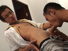 Asian Twinks Albert and Oliver Bareback