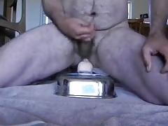 riding a dildo and cumming