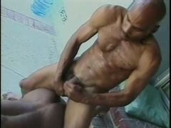 Two black gays suck each other's cocks and bang in the kitchen