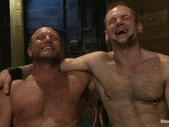 Chad Brock enjoys being tortured by Tober Brandt in gay BDSM scene