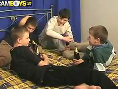 Amateur Russian Twinks Orgy