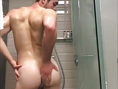 Shower time - hot man take a shower