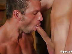 Horny Mucsle And Twink Fight And Fuck