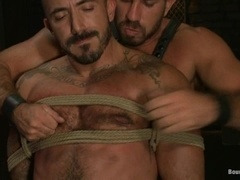 Alessio Romero gets his ass and mouth smashed by Damien Stone