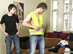 He picks up gay slut boy from the street