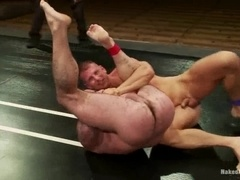 Dak Ramsey and Mitch Colby fight on a ring and make gay love