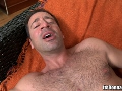 Gay bear Sean Slater rubs a BBC and takes an ardent ride on it