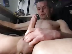 old man Jerking his dick