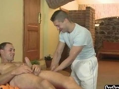 Young-looking twink gives blowjob