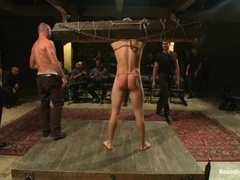 Trent Diesel gets bound, tortured and fucked by a group of fags