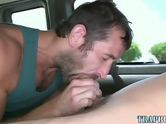 Bisex hunk gets gay suck