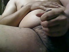 Cumming on the couch