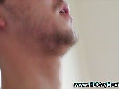 Nasty bubble bath hunks suck on cock