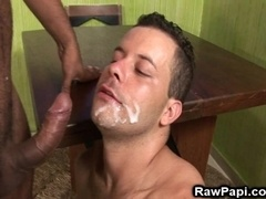 Two horny faggots enjoy licking and fingering each other's butts