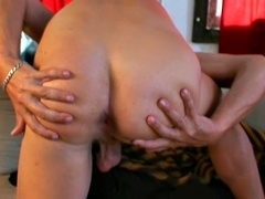 A daddy fingers his butt and masturbates his hard shaft