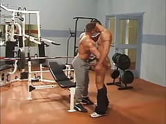 At gym