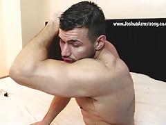 Muscled horny brit fucks a Fleshlight