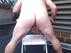 JoeyD outdoor smooth butt anal gape n squirt