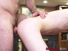 Bear ass fucks mormon guy
