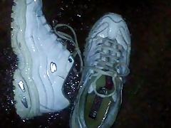 net friend's sneakers pissed and left outside by request