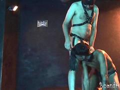 bdsm puppy training ends with deep meat swallowing movie