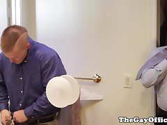 Office hunks assfucking before work