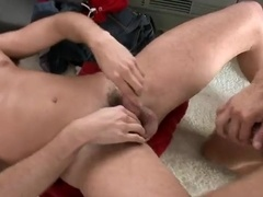 Muscular homo lets a stranger drill his ass in the missionary position