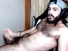 Hairy Otter Bearded Self Facial Cumshot