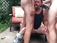 Cocksucker Swallows 2 Hung Loads