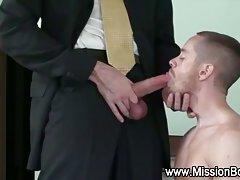 Missionary boy guilty blowjob