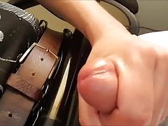 wanking trapped on chair