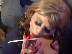 Sissy Diane Le Queen Long Smoke And Dildo Suck