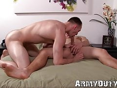 Army boy likes it raw up his tight ass hard and deep