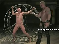 Gay hunk abused in bondage extreme sex