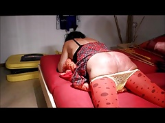 Crossdresser spanking punishment