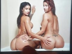 Priya and Preeti Indian Twins Ass Cum Tribute
