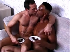 A gay makes his black BF suck his dick and pounds his butt from behind