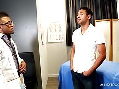 NextDoorEbony Hung Doctor tops Latino Paitent