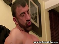 Latino gay gets ass pounded