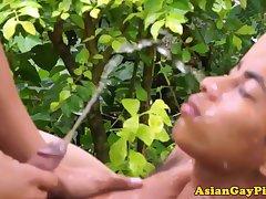 Goldenshower loving asian twinks bareback