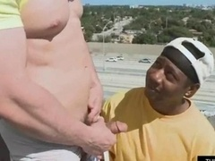 Black lad has an intercourse a white cock