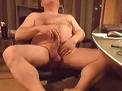 Older man plays with himself