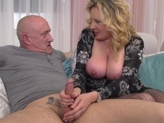 Beautiful Blond Hair Girl Lardy Mommy Pounded Hard  - rough