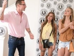 Ukrainian and Czech Ivana Sugar & Silvia Dellai audition for threesome