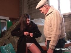 Amateur young brunette sucks dick and fucks in the ass