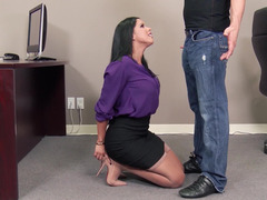 Sexy secretary is able to satisfy her boss's needs