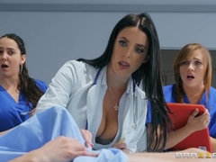 Angela White teaches interns to fuck in hardcore style