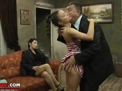 Raunchy Chubby Oldman Has Fun With Two Amazing Women