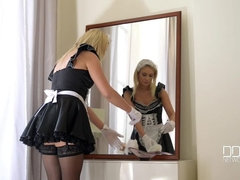 Dusted Busty - Mistress Teaches Maid A Lesson In Housekeeping, Part 1