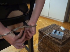 Electro Chair Self Bondage Amateur BDSM